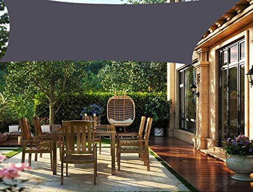 HENG FENG Toldo Vela de Sombra PES Cuadrado 3 x 3 m Protección Rayos UV Impermeable Resistente a la Intemperie para Patio Exteriores Jardín Color Antracita