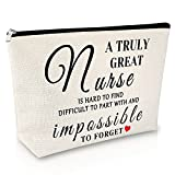 Best Nurse Gifts Makeup Bag Nurse Day Cosmetic Bag gift for Women Nursing Student Gifts Practitioner Gifts for Nurse Graduation Gifts for Her Travel Cosmetic Pouch Appreciation Birthday Gift
