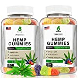 (2 Pack) Hemp Gummies Organic - 3,000mg Extract - for Sleep Aid & Immune Support - Anxiety & Stress Relief - Vegetarian, Non GMO