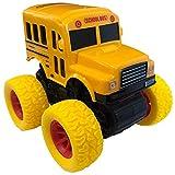 ArtCreativity Yellow School Bus Toy with Yellow Monster...