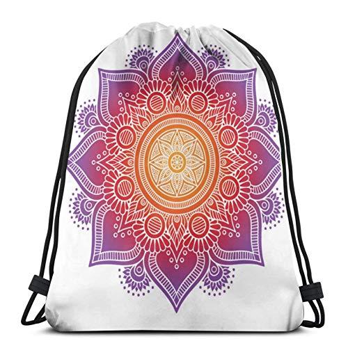 Mochila con cordón, almohada de meditación con mandala, ligera, gimnasio, viajes, yoga, casual, bolsa de hombro, para senderismo, natación, playa