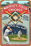 Henson Wrigley Field Chicago Traditional Vintage Tin Sign Logo 12 * 8 Advertising Eye-Catching Wall Decoration