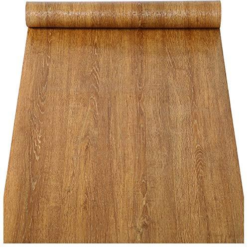 Papel pintado de madera sintética de contacto de grano de papel de vinilo autoadhesivo para armarios de cocina, estantes, cajones, encimera, mesa, muebles, puerta, calcomanía de pared (60 x 300 cm)