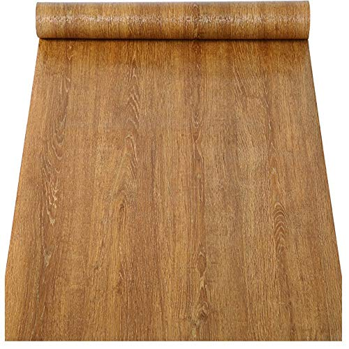 Papel pintado de papel de contacto de grano de madera sintética, vinilo autoadhesivo para armarios de cocina, estantes, cajones, encimeras, mesas, muebles, puerta (60 x 300 cm)