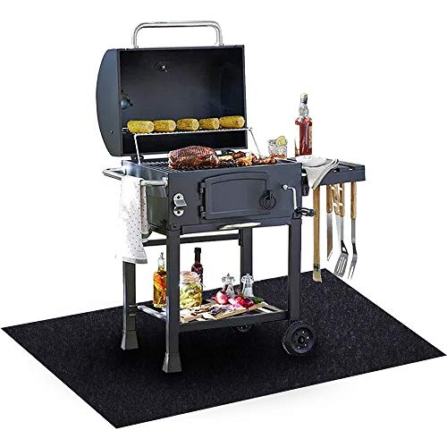 Under The Grill Mat, (36 x 60 inches) ,BBQ Grilling Gear for Gas or Electric Grill – Use This...