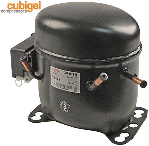 hmbp Compressore gp16tb Potenza 690W 220–240V refrigerante R134a 50Hz 12kg 3/8HP