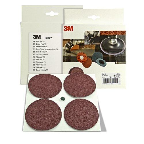 3M Cubitron 983C 65163 P24- Discos abrasivos de fibra (5 unidades, 75...