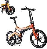 Bicicleta Eléctrica Plegable para Adultos, Bicicleta de Cercanías Eléctrica de 20 ''...