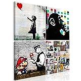 murando - Bilder Banksy 40x40 cm Vlies Leinwandbild 4