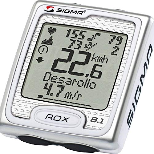 VDP Sigma Sport Rox 8.1 Compteur de vélo sans fil pour tacho Blanc