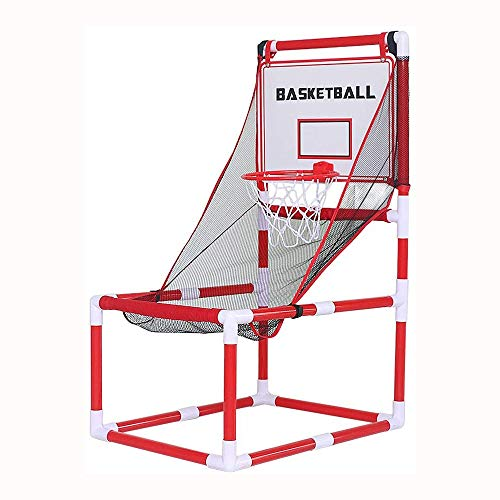 JJLL Basketball-Band Arcade Game, justierbare Hoop Shooting Games for Outdoor/Indoor-Spiel mit 2 Ball