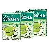 Eden Sencha Organic Green Tea, Japanese, 16 Unbleached Manila Tea Bags / Box (3-Pack)