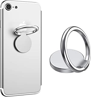 VASIVO Finger Ring Stand 360° Rotation Universal Cell Phone Ring Stand Holder for iPhone X 8 7 Plus 6S 6, Galaxy S6 S7 S8 S8 Plus, Note and Other Smartphones (Silver)