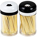 DecorRack 2 Toothpick Dispensers with 400 Natural Wood Toothpicks for Teeth Cleaning, Hold...