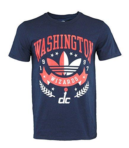 adidas NBA Go to Originals Camiseta de manga corta para hombre, opción de equipo, Atlético, XL, Washington Wizards