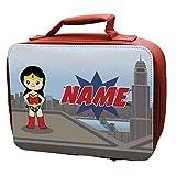 Personalised <span class='highlight'>Superhero</span>es GIRLS Lunch Bag RED