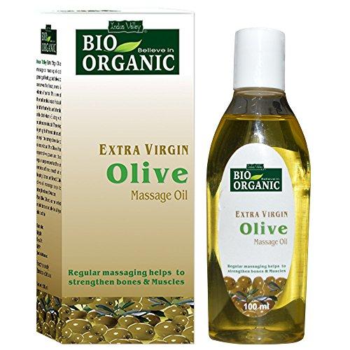 INDUS VALLEY Bio Organic Extra Virgin Olive Massage Oil - (100ml)