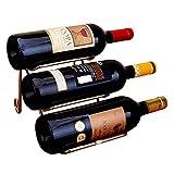 Anberotta ワインラック ホルダー 3本収納 ワイン シャンパン ボトル 収納 ケース スタンド インテリア W33 (ゴールド)