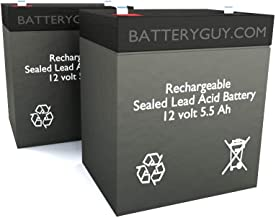 BatteryGuy BGH-1255F2 (Qty of 2) 12V 5.5ah High Rate Rechargeable SLA Battery