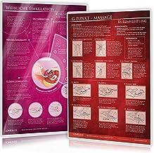 [2er Set] G-Punkt-Massage und Weibliche Ejakulation (2021): Ideal für die erotische Massage [2 Karten DIN A4 - 2seitig, la...