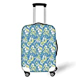 Travel Luggage Cover Suitcase Protector,Camouflage,Hawaiian Pattern Exotic Tropical...