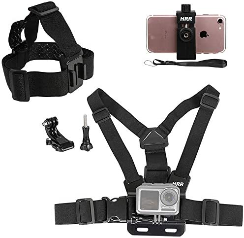 Mobile Phone Chest Strap Harness Mount Head Strap Holder Kit for POV VLOG Cell Phone Clip Compatible product image
