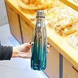 BLACK ELL Botella De Agua Aislada Al VacíO De Acero Inoxidable Sin Bpa,Taza de Aislamiento Simple Personalizada, Taza portátil de Gran Capacidad E,Aislamiento Al VacíO Y Botella De Agua Deportiva