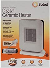 New 3 Heat Settings Soleil Digital Electric Portable Ceramic Heater PTC-910B