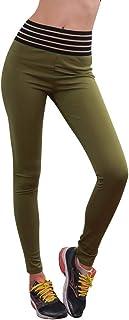 Qootent Women Yoga Pants Sports Fitness Leggings Hips Elastic Skinny Trousers