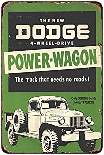 Custom Kraze The Dodge Power-Wagon Vintage Look Reproduction Metal Sign 8 x 12