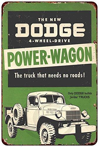 Custom Kraze The Dodge Power-Wagon Vintage Look Reproduction Metal Sign 8 x 12¡