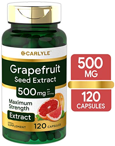 Carlyle Grapefruit Seed Extract 500 mg 120 Capsules – Maximum Strength, Immune Formula, Non-GMO, Gluten Free
