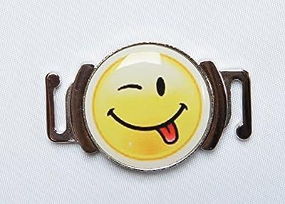 Schuhclip Golfball Marker'SMILE' lustiges