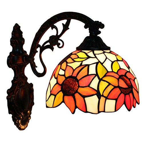 FABAKIRA Aplique Tiffany Lamp Vintage Mini Lámpara de Pared Iluminación para Interior y...