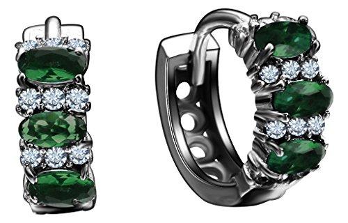 Bigood Boucles d'Oreilles Soirée Acier Bijoux Cadeau Fête Anniversaire Vogue Vert