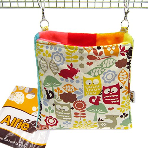 Alfie Pet by Petoga Couture - Paisley Hanging Square Hideout for Small Animals like Guinea Pig and Rabbit - Pattern: Animal