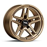 jeep 17 rims - RockTrix RT108 17 inch Wheel Compatible with Jeep Wrangler JK JL 5x5 Bolt Pattern 17x9 (-12mm Offset, 4.5in Backspace) 71.5mm Bore, Bronze, Also fits Gladiator, Grand Cherokee WJ WK WK2-1pc