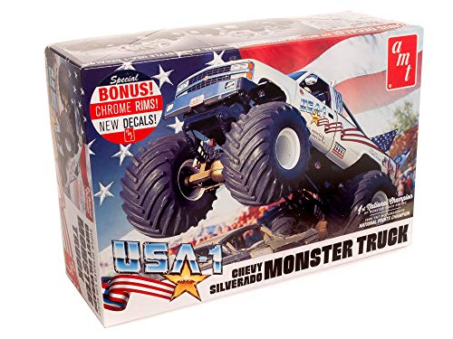 AMT USA-1 Chevy Silverado Monster Truck 1:25 Scale Model Kit