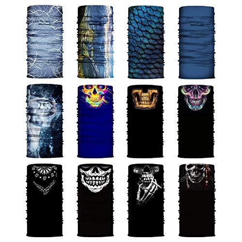 Sensong Multifunktionstuch Halstuch Herren Damen Schlauchschal Schal Balaclava Maske Gesichtsmasken für Motorrad Skateboard Angeln Kopfbedeckung Laufen Radfahren Motorradfahren Yoga Bunte