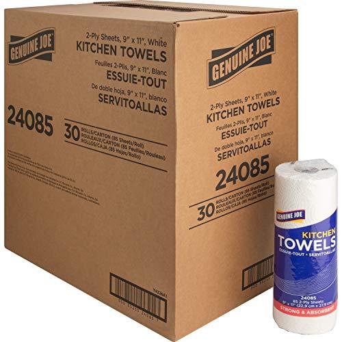 Genuine Joe GJO24085 Kitchen Towels, 85 count, 30 pack