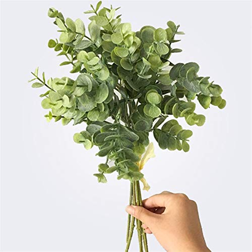 SJHQ Flor Preservada 6 PCS Eucalyptus Plástico Hojas Artificiales Manojo para el...