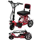 Noble Elektro-Dreirad Tragbare Falten Leichte Elektro-Roller Mit Lithium-Batterie Für Behinderte ältere Batterie-Auto 48V Können 60 Km Last Red