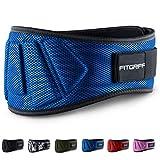 Fitgriff Cinturón Gym V1 - Cinturon Gimnasio, Musculación, Halterofilia, Crossfit, Levantamiento Pesas, Fitness - Mujeres y Hombres - Blue Large