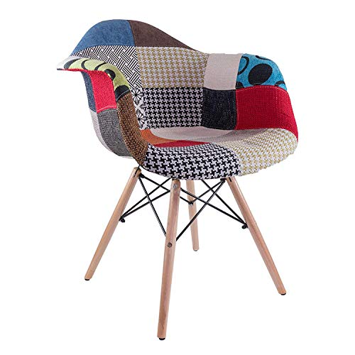 Fashion Commerce, Daw Patchwork, Poltroncina, Multicolore, 62.5 x 63 x 81 cm