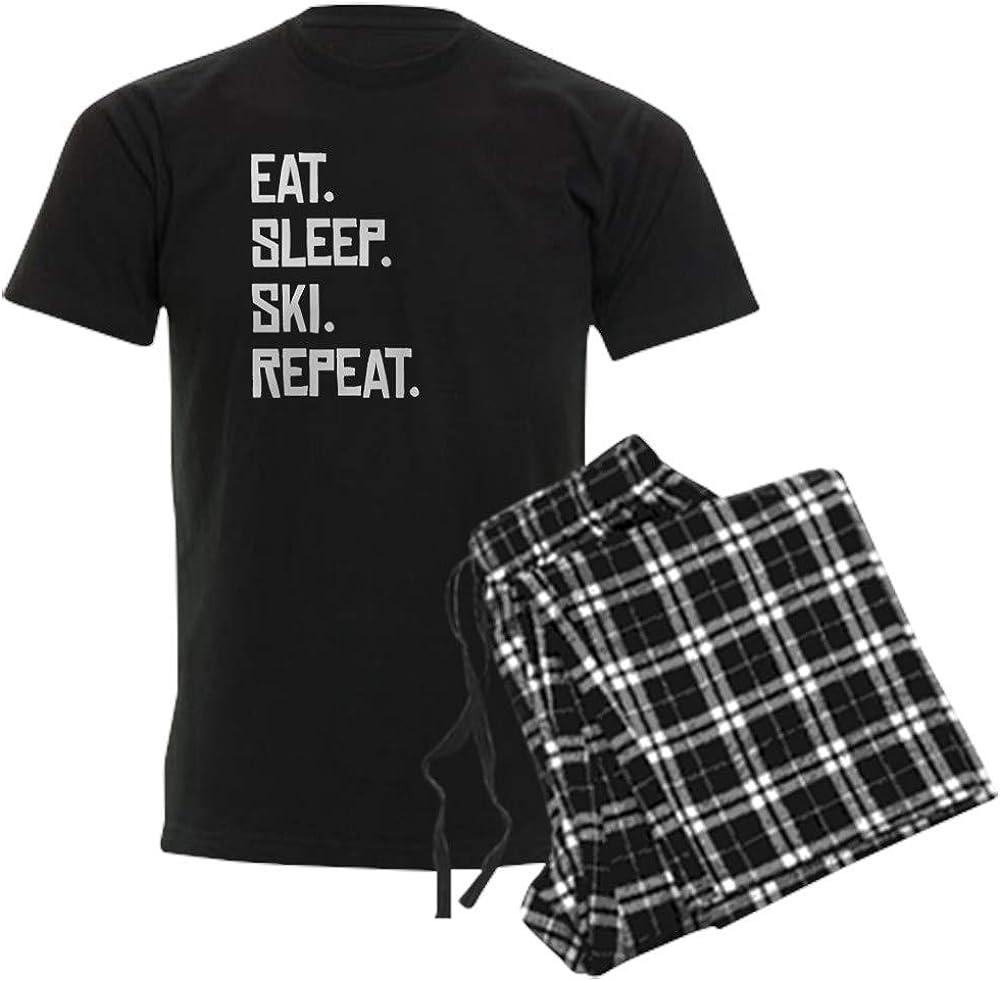 CafePress Eat Sleep Ski Repeat Pajamas Pajama Set