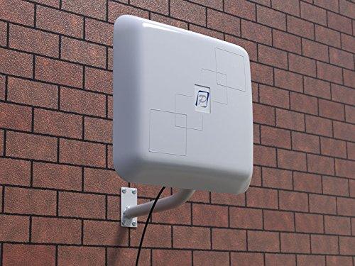 REMO Electronics BAS-2301 Extensor de señal WiFi para exteriores, antena de alta ganancia de 2,4 GHz con selector RP-SMA