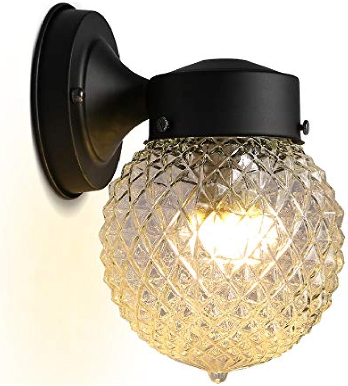 WPOLED 1-Light Moderne Europische Schmiedeeisen Metall Wandleuchte Garten Lampe E27 Edison Schlafzimmer Nachttischlampe Glas Wandleuchte Rostschutz Persnlichkeit Antike Wandleuchte Victoria Wandlate