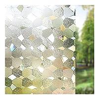 XIXI ヒートコントロールガラスの色合いのステッカーをブロックする3Dウィンドウ加飾フィルムプライバシー静的しがみつく自己接着フィルム用UV (Color : 60x100cm)