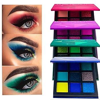 Edanta Eyeshadow Matte Glitter Highly Pigmented Eye Shadow Waterproof Sweatproof Professional Eyeshadow Palette Makeup Soft Eyes Cosmetics Makeup Kit for Women and Girls Pack of 1  A-Green