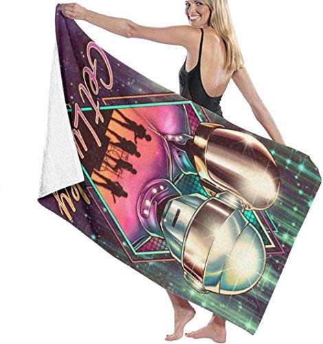AGCXDToalla de baño Daft Punk Toalla de baño Toalla de Playa Personalidad Creativa Gimnasio Piscina Deportes acuáticos Portátil Playa Mat 31.5X51.2